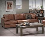 Sofa w stylu rustykalnym piękna tkanina skóropodobna Ottelo