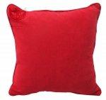 Czerwona poduszka dekoracyjna z aksamitu Comodo