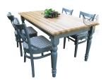 Zestaw w stylu prowansalskim Stół FINLANDIA +4 krzesła VENICE