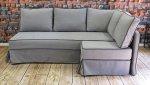Sofa narożna tkanina łatwoczyszcząca, pokrowiec na stałe Micro