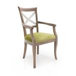 Meble w stylu country krzesło z podłokietnikami Croce
