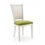 Białe krzesło w stylu skandynawskim Praga