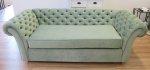Głęboka pikowana kanapa wywijane boki sofa Pablo
