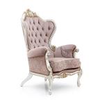 Barokowy, bogato zdobiony fotel NAXOS