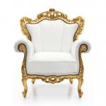 Bogato rzeźbiony fotel stylizowany Palermo