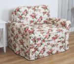 Mała sofa do salonu w stylu prowansalskim Flower 110 cm