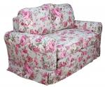 Fartuchowiec w kwiaty sofa w oryginalnej tkaninie SANDERSON