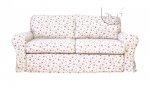 Sofa w drobne różyczki 206 cm/FS luźny pokrowiec Marie