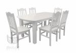 Zestaw rozkładany stół i krzesła drewno sosnowe Kolekcja Country