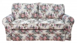 Żakardowe obicie w kwiaty kanapa w angielskim stylu Flower 186 cm