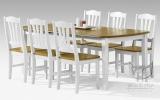 Piękny komplet w stylu prowansalskim COUNTRY stół z wkładką + krzesła