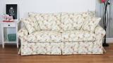 Sofa z pokrowcem w drobne kwiaty Christine 188 cm z funkcją spania