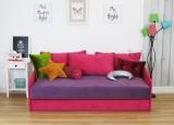 Sofa dla dziewczynki do spania z pojemnikiem Mickey 185 cm