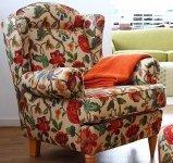 Fotel z wysokim oparciem Sandy