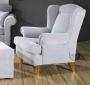 Stylizowany fotel z wysokim oparciem wybierz dowolną tkaninę-Babciny fotel