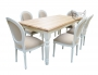 Zestaw w bieli Stół Sevilla i 6 krzeseł Louis
