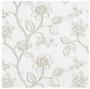 Biała tkanina wyszywane kwiaty Ivy col. 02