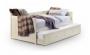 Białe łóżko Abella