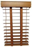 Żaluzje Drewniane 50mm na Wymiar