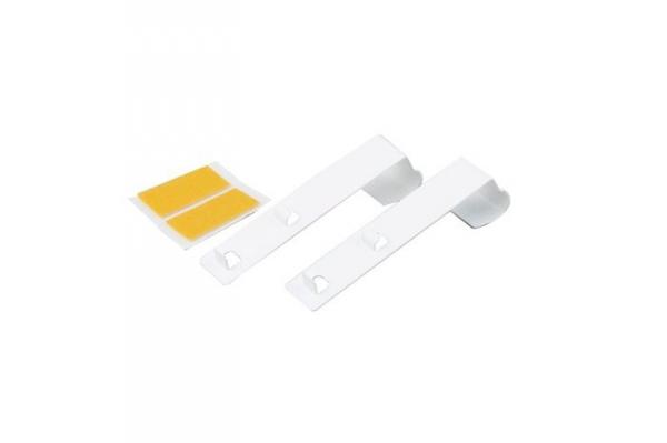 Metalowy wieszak do mini rolet, długi - biały