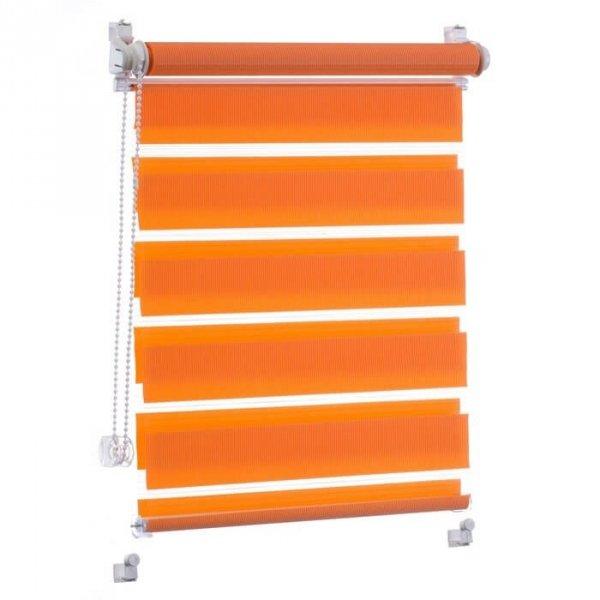 Roletka dzień noc pomarańczowa to świetny pomysł na dekorację okien w kuchni