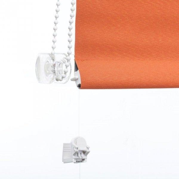 Mini roleta z żyłką Thermo - Rudy (Silver)
