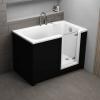 Badewanne PERE für barrierefreies Bad mit profiliertem Sitzbereich mit Tür rechts inkl. schwarze Schürze