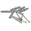 Handlauf für barrierefreies Bad 160 cm aus rostfreiem Edelstahl ⌀ 32 mm mit Abdeckrosetten