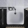 Unterfahrbare Waschtisch für barrierefreies Bad 65 x 55 cm groß mit Überlauf