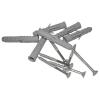 Winkelgriff für barrierefreies Bad 80/40 cm links montierbar aus rostfreiem Edelstahl ⌀ 25 mm
