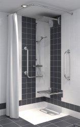 Duschvorhang für Dusche oder Badewanne 120 x 200 cm