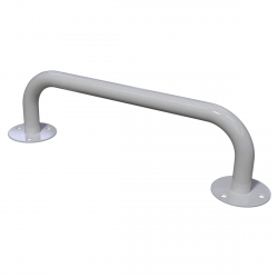 Haltegriff für barrierefreies Bad 60 cm weiß ⌀ 25 mm