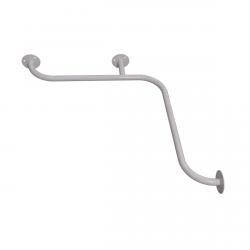 Duschhandlauf Winkelgriff für barrierefreies Bad 60/60 cm weiß ⌀ 25 mm