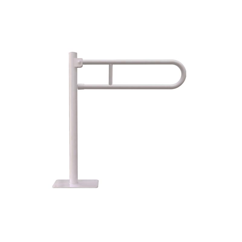 WC - Klappgriff für barrierefreies Bad freistehend weiß 80 cm ⌀ 25 mm