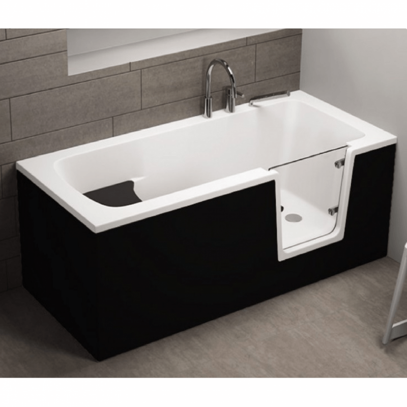 Frontpaneel für AVO Badewanne 160 cm schwarz