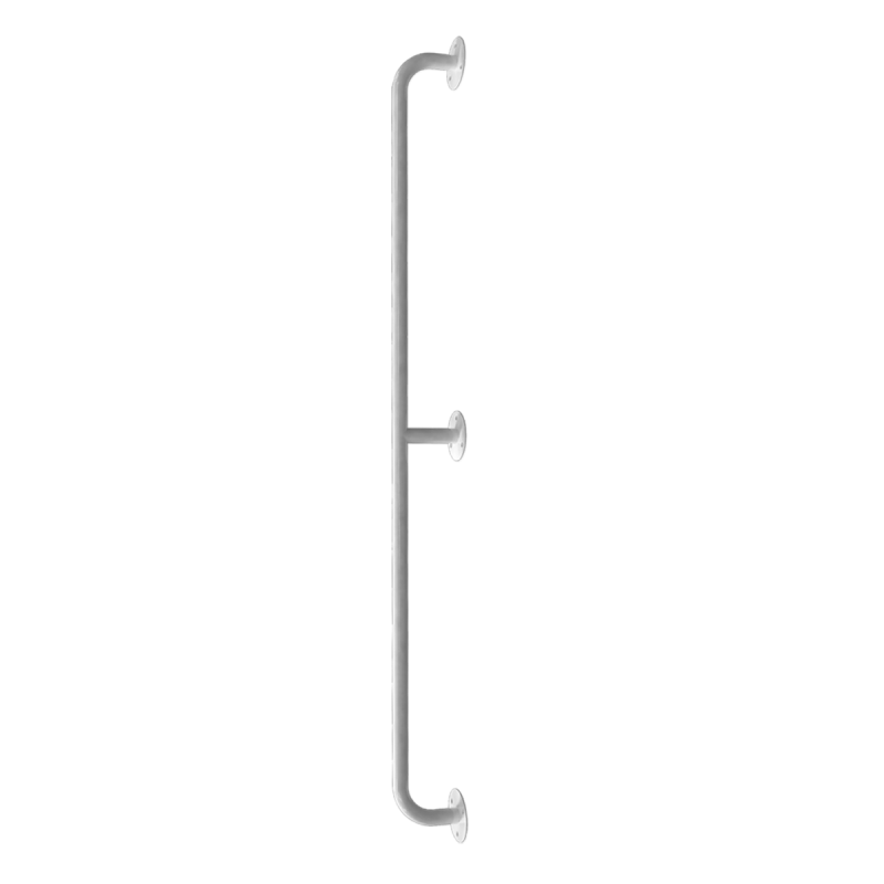 Handlauf für barrierefreies Bad 170 cm weiß ⌀ 25 mm