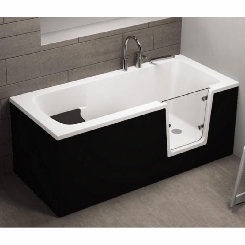 Seitenpaneel für AVO / VOVO Badewanne 160 cm schwarz