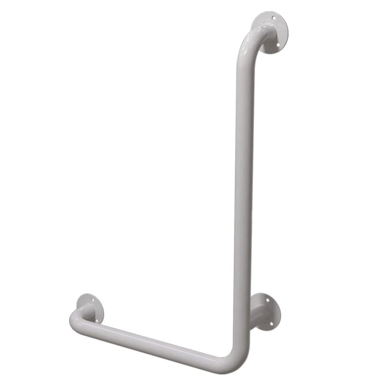 Winkelgriff 60/40 cm für barrierefreies Bad rechts montierbar weiß ⌀ 32 mm