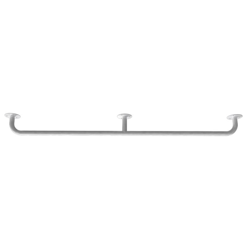Handlauf für barrierefreies Bad 110 cm weiß ⌀ 25 mm