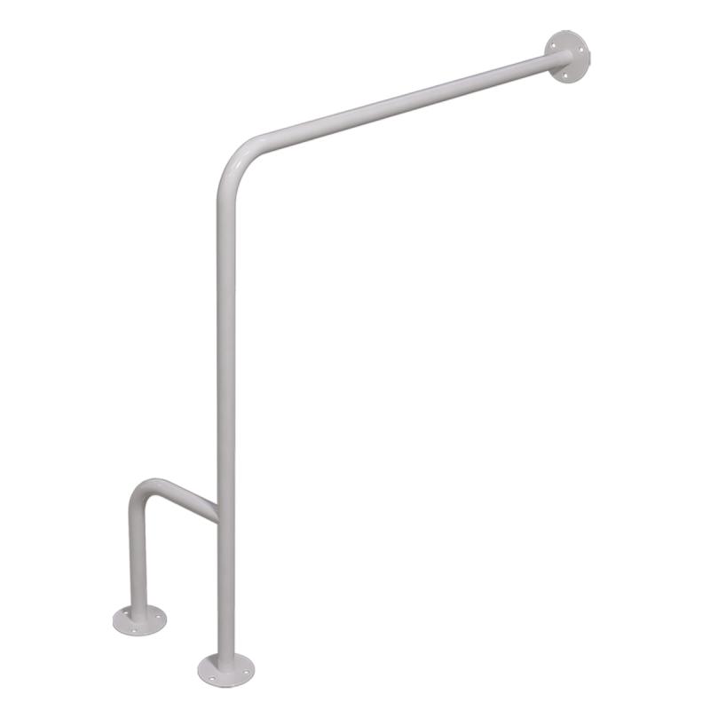 WC - Stützgriff für barrierefreies Bad rechts montierbar weiß 80 cm ⌀ 25 mm