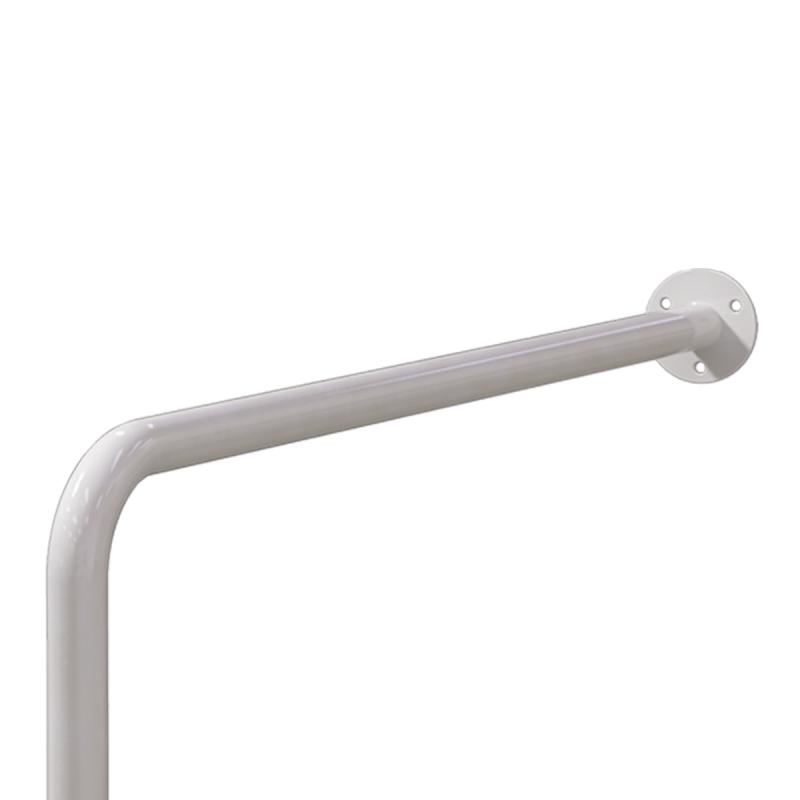WC Stützgriff für barrierefreies Bad rechts montierbar weiß 70 cm ⌀ 32 mm