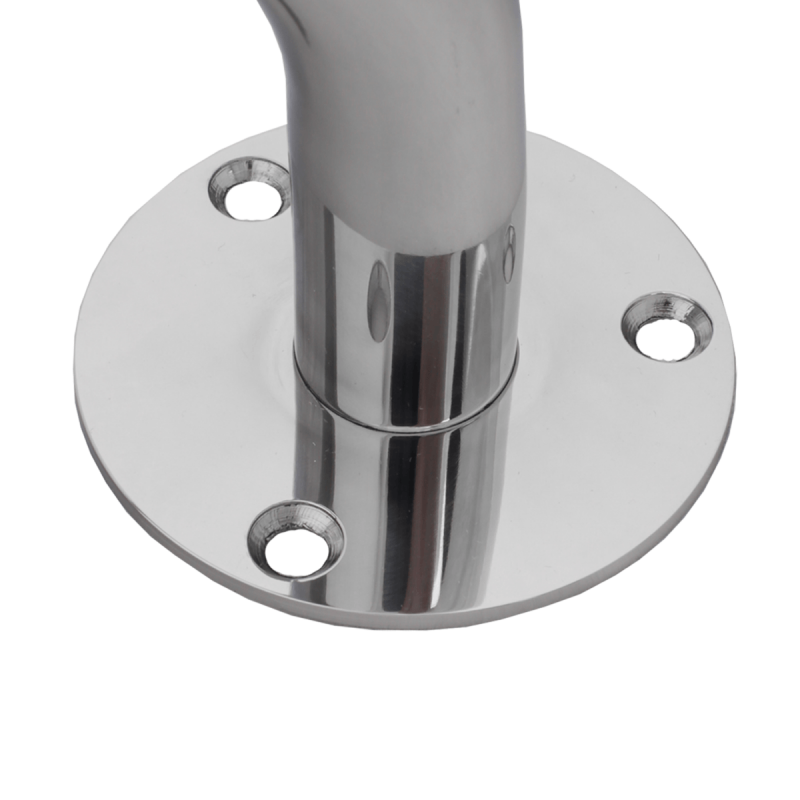 Winkelgriff für barrierefreies Bad Stangenlänge 70/50cm links montiert. aus rostfreiem Edelstahl ⌀ 32 mm