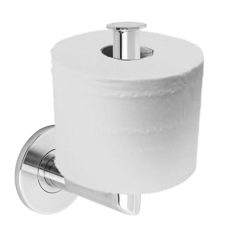 Winkelförmiger Toilettenpapierhalter aus Edelstahl