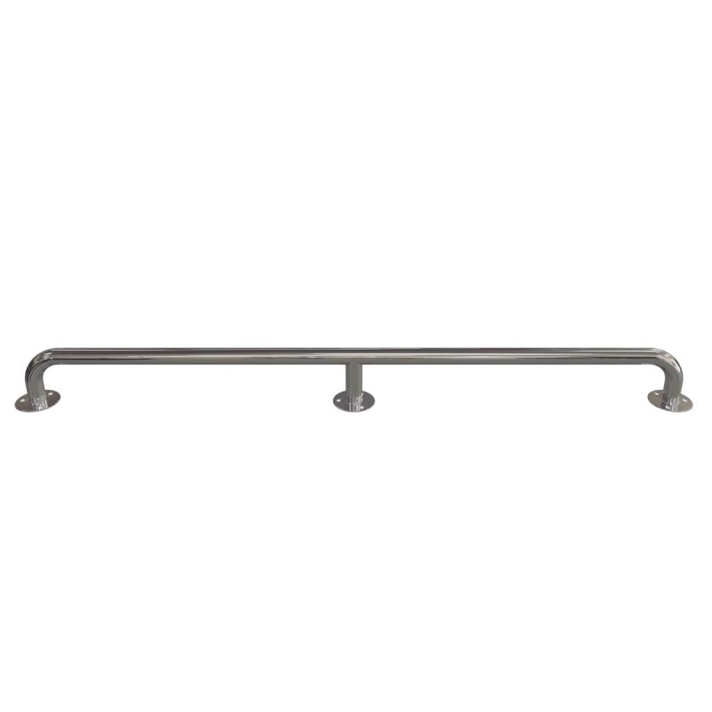 Handlauf für barrierefreies Bad 160 cm aus rostfreiem Edelstahl ⌀ 32 mm