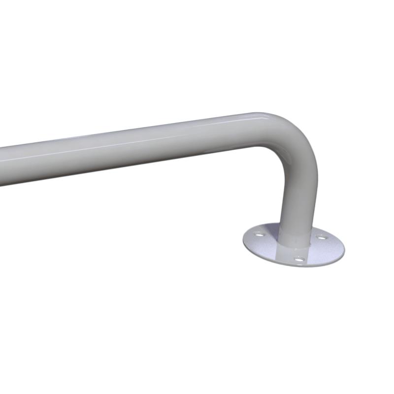 Winkelgriff 100/60 cm für barrierefreies Bad rechts montierbar weiß ⌀ 25 mm