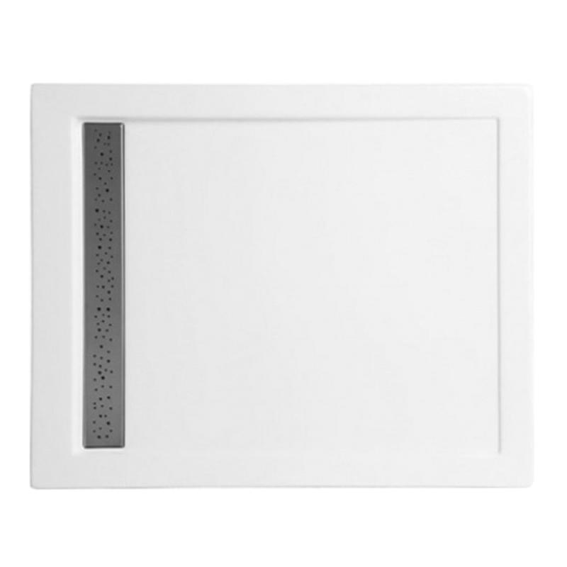 Duschwanne mit Duschrinne für barrierefreies Bad 120 x 90 cm