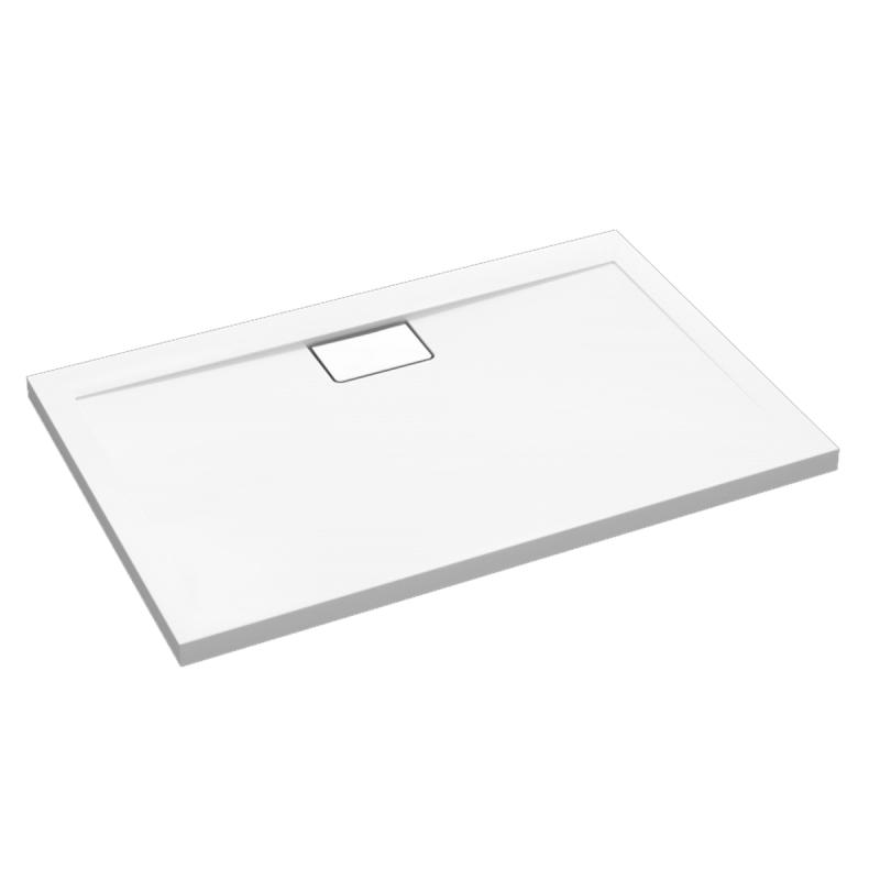 Weiße Duschwanne für barrierefreies Bad 160 x 80 cm
