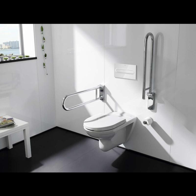 Barrierefreies Tiefspüler-Wand-WC mit Befestigungsmaterial