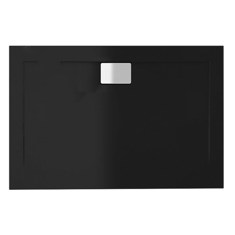 Schwarze Duschwanne für barrierefreies Bad 160 x 80 cm