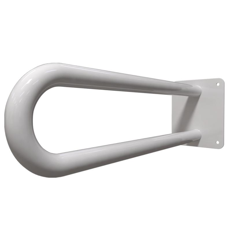 Stützgriff am WC für barrierefreies Bad weiß 70 cm ⌀ 25 mm